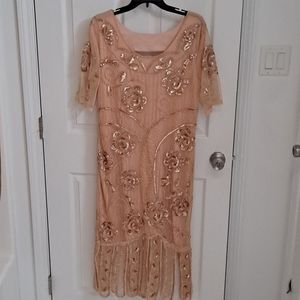 NWT 1920s Flapper Style Sequin and Beaded Dreas